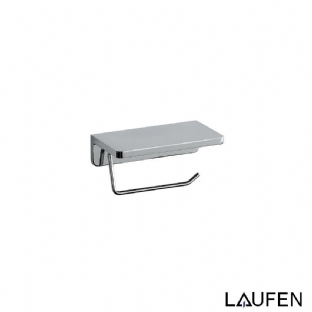 Laufen Toilet Roll Holder With Shelf - Chrome Surface - 3.8368.1.004.000.1